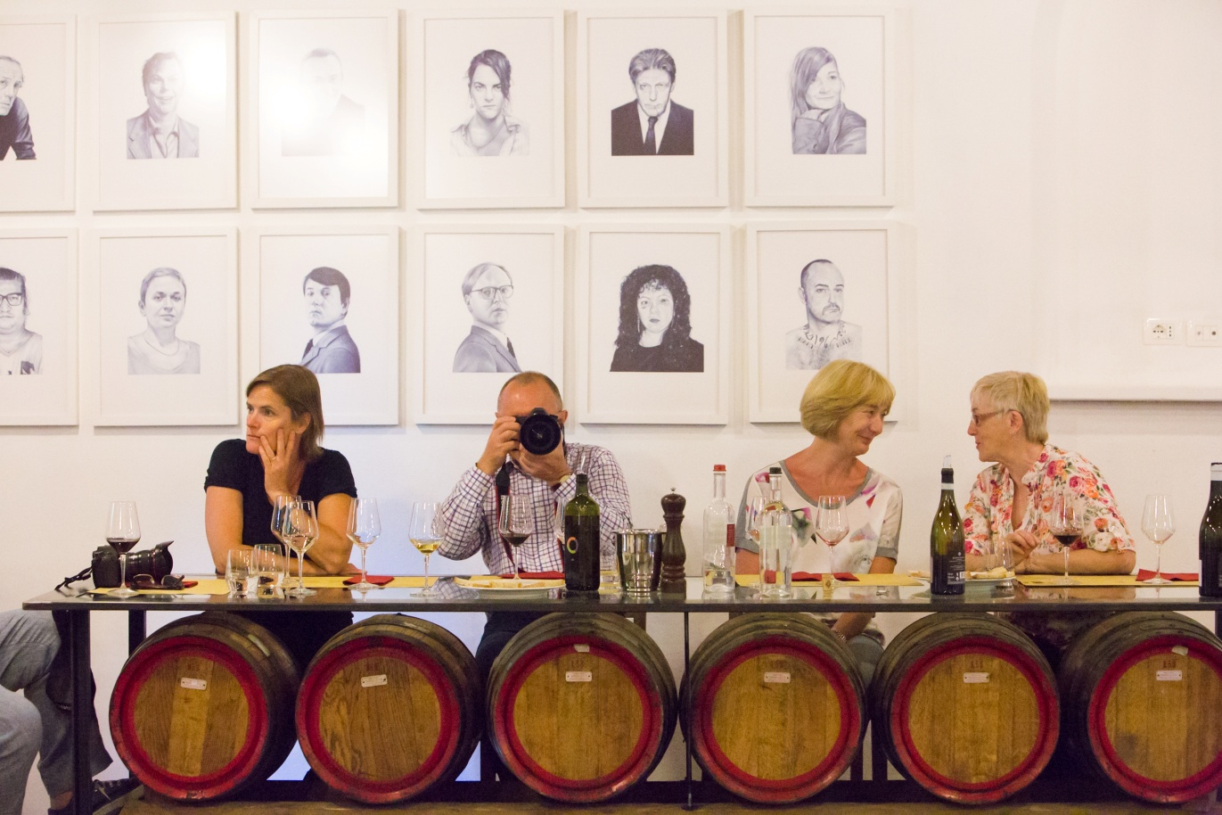 wine tasting on photography holiday in italy